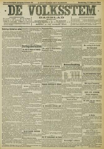De Volksstem 1915-02-11