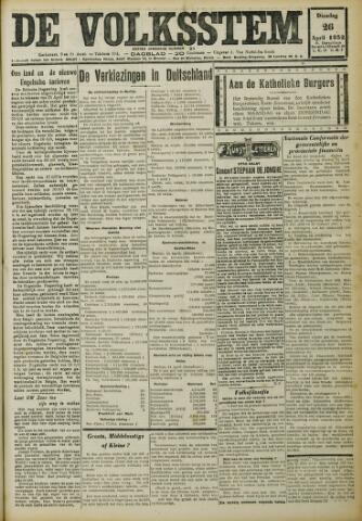 De Volksstem 1932-04-26