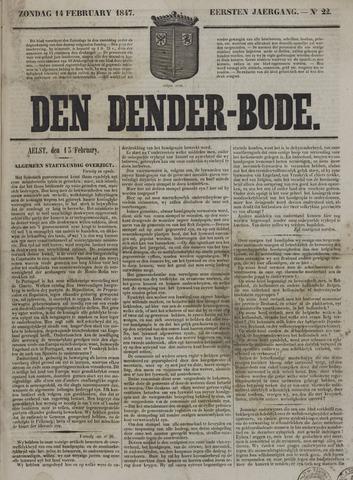 De Denderbode 1847-02-14