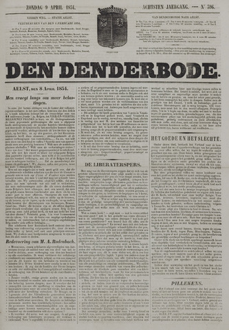 De Denderbode 1854-04-09