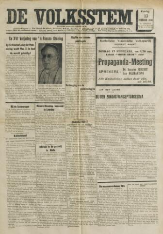 De Volksstem 1938-02-13