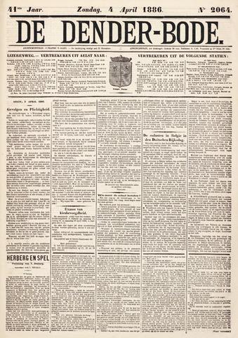 De Denderbode 1886-04-04