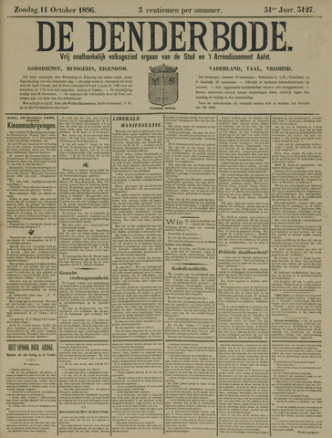 De Denderbode 1896-10-11