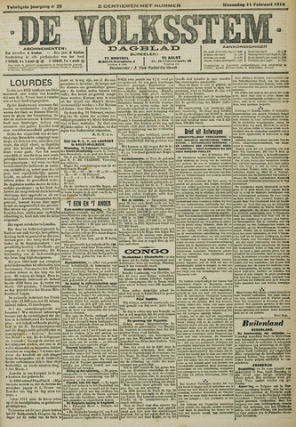De Volksstem 1914-02-11
