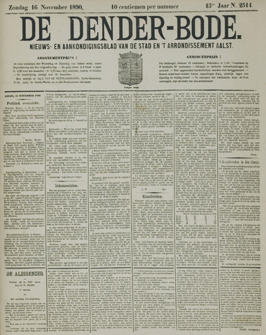 De Denderbode 1890-11-16
