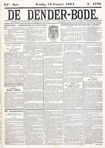 De Denderbode 1881-01-16