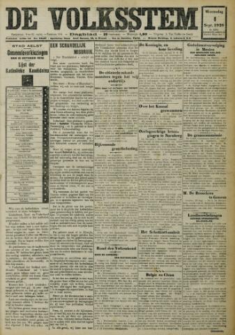 De Volksstem 1926-09-01