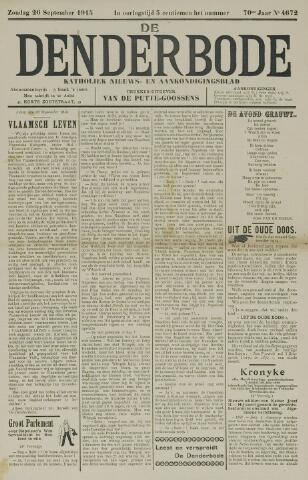 De Denderbode 1915-09-26
