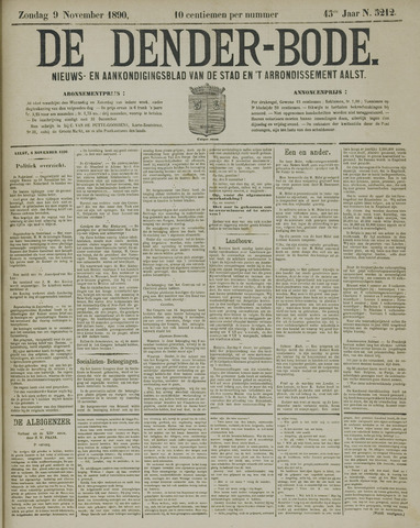 De Denderbode 1890-11-09