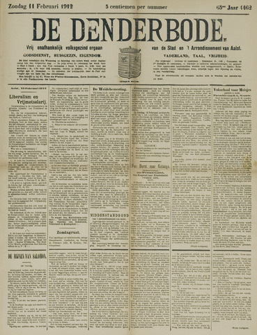 De Denderbode 1912-02-11