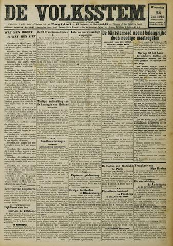 De Volksstem 1926-07-14