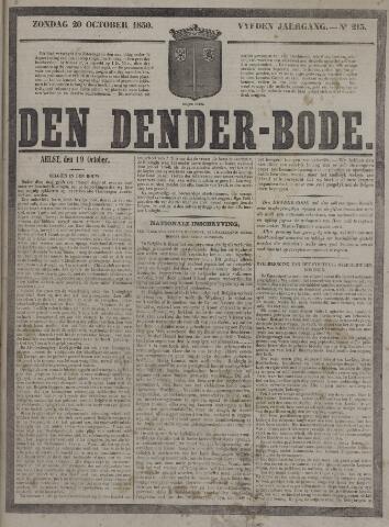 De Denderbode 1850-10-20