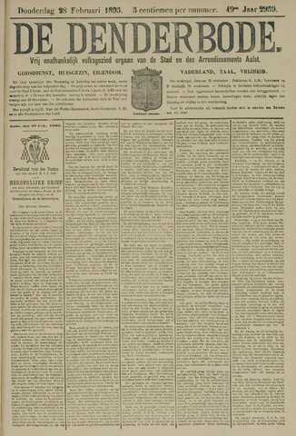 De Denderbode 1895-02-28