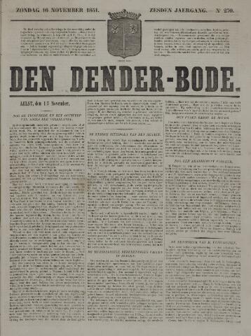 De Denderbode 1851-11-16