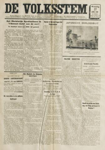 De Volksstem 1938-04-27