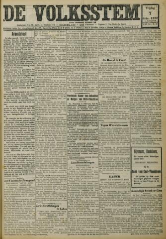 De Volksstem 1930-02-07