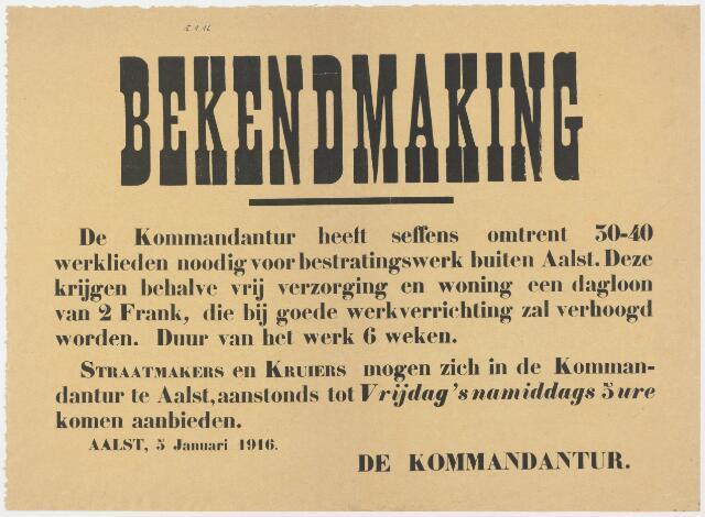 Tekstaffiches 1916