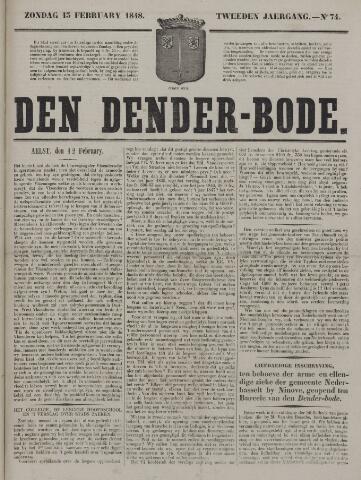 De Denderbode 1848-02-13