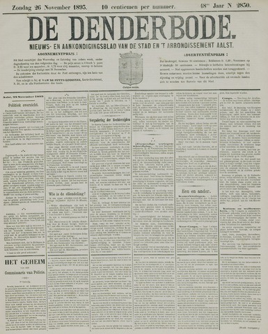 De Denderbode 1893-11-26