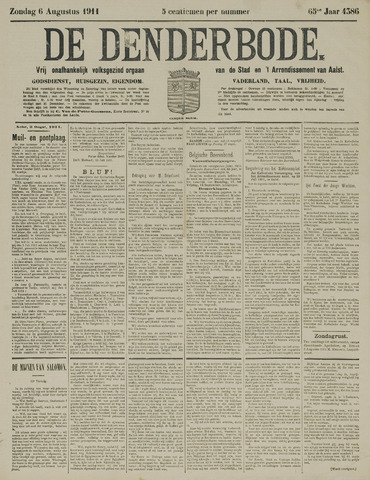De Denderbode 1911-08-06