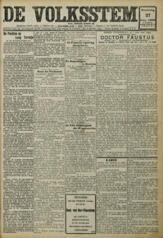 De Volksstem 1930-02-27