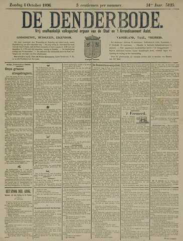 De Denderbode 1896-10-04