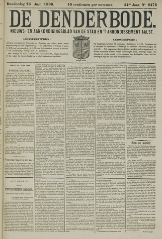 De Denderbode 1890-06-26