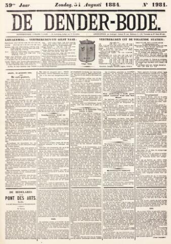 De Denderbode 1884-08-31