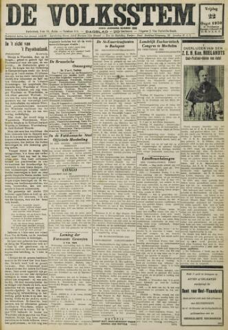 De Volksstem 1930-08-22