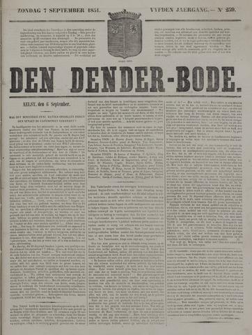 De Denderbode 1851-09-07