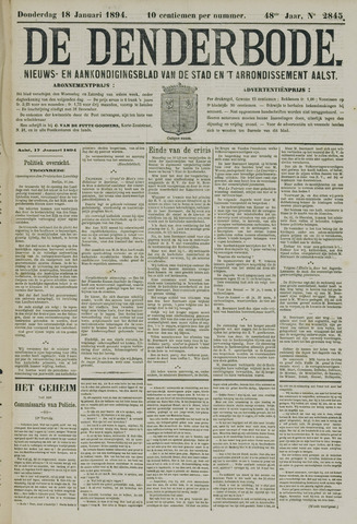 De Denderbode 1894-01-18