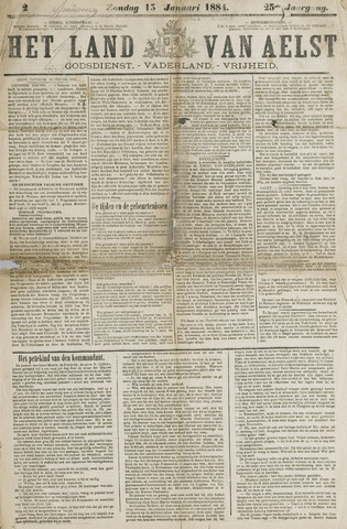 Het Land van Aelst 1884-01-13