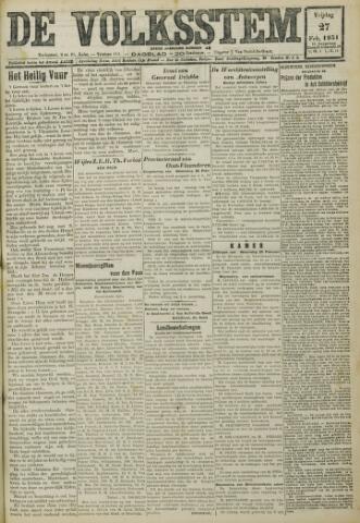 De Volksstem 1931-02-27