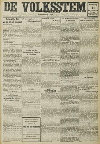 De Volksstem 1930-08-21