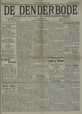 De Denderbode 1916-12-03
