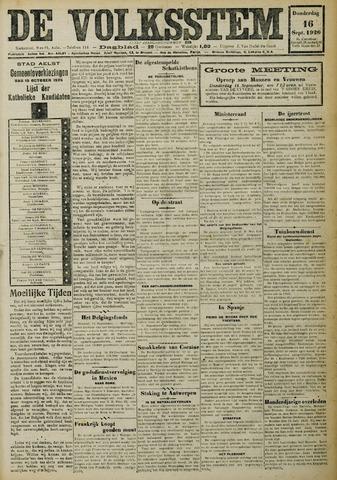 De Volksstem 1926-09-16