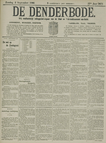 De Denderbode 1906-09-02