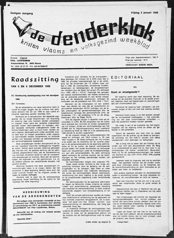 Denderklok 1986