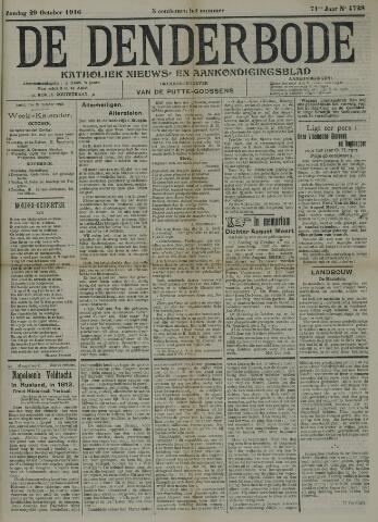 De Denderbode 1916-10-29