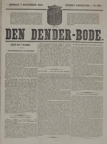 De Denderbode 1851-12-07