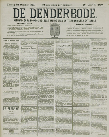 De Denderbode 1893-10-22