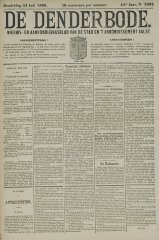 De Denderbode 1890-07-24
