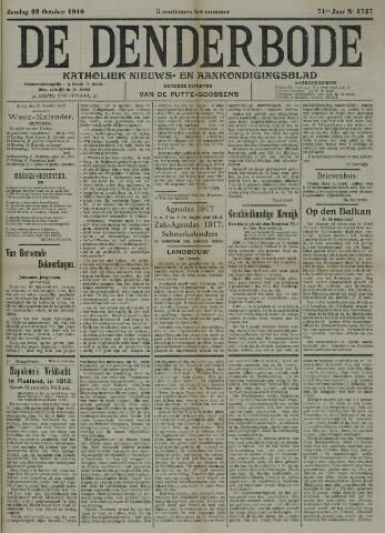De Denderbode 1916-10-22