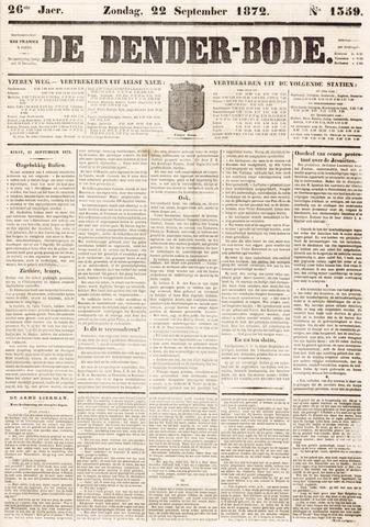 De Denderbode 1872-09-22