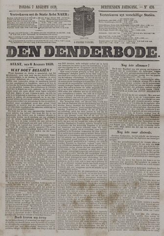 De Denderbode 1859-08-07