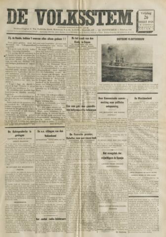De Volksstem 1938-08-26