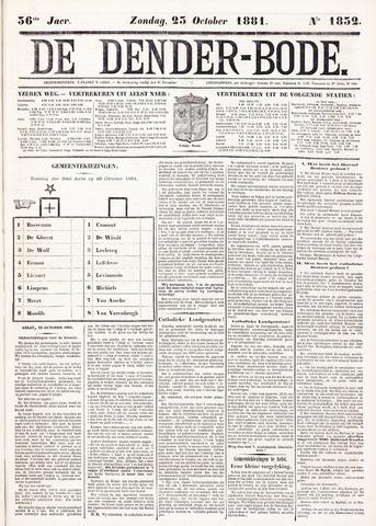 De Denderbode 1881-10-23