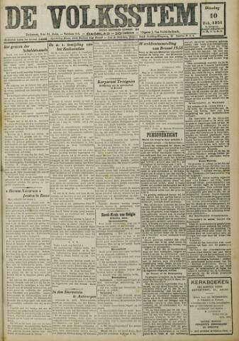 De Volksstem 1931-02-10