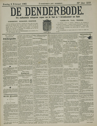 De Denderbode 1903-02-08