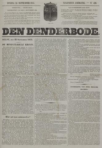 De Denderbode 1854-09-24